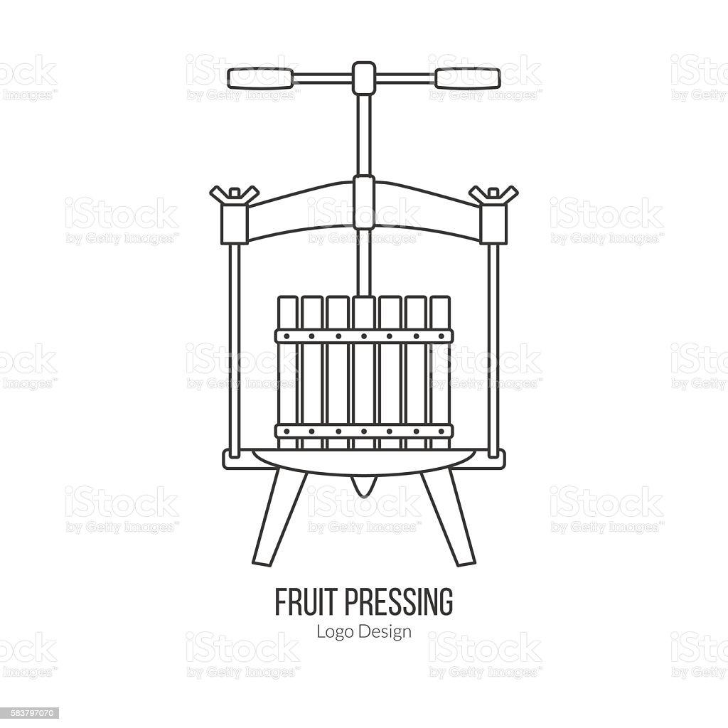 Winemaking, wine tasting logotype design concept vector art illustration
