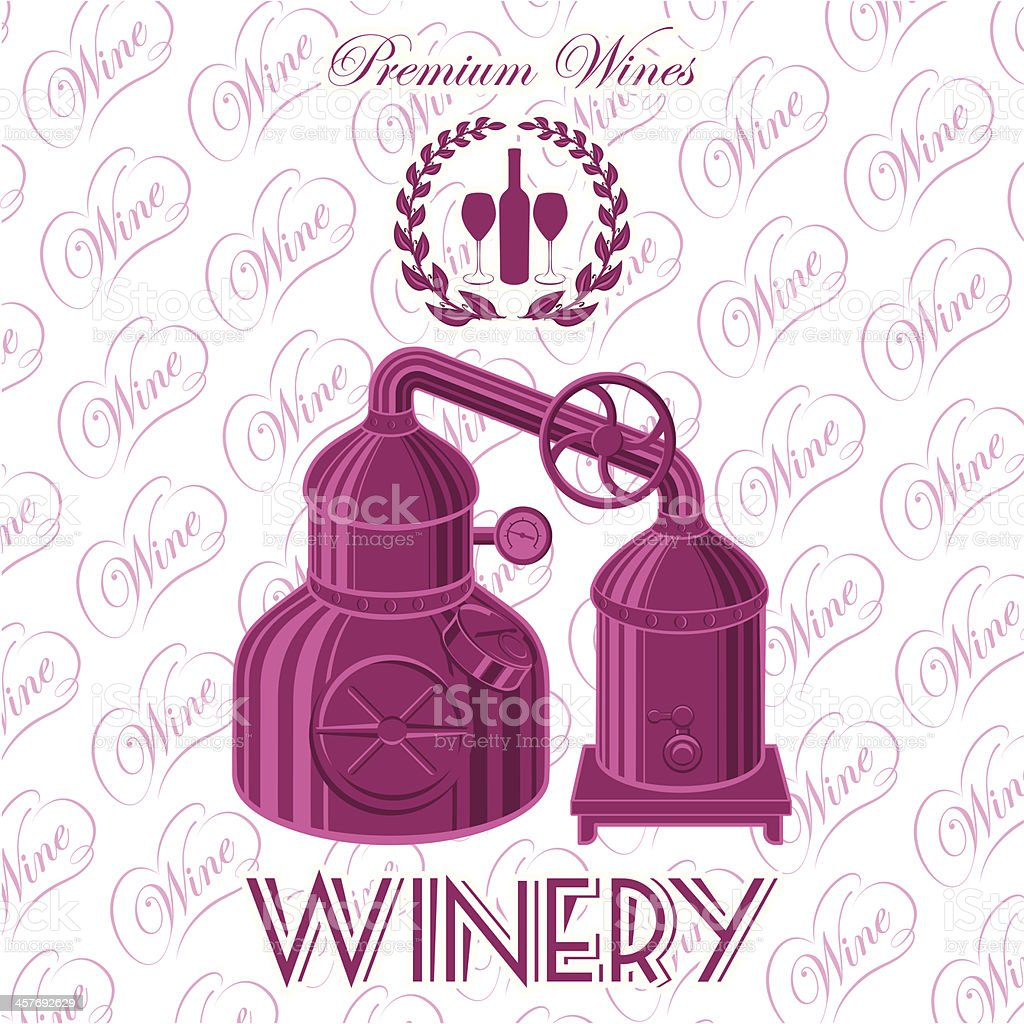 winery for wine royalty-free stock vector art