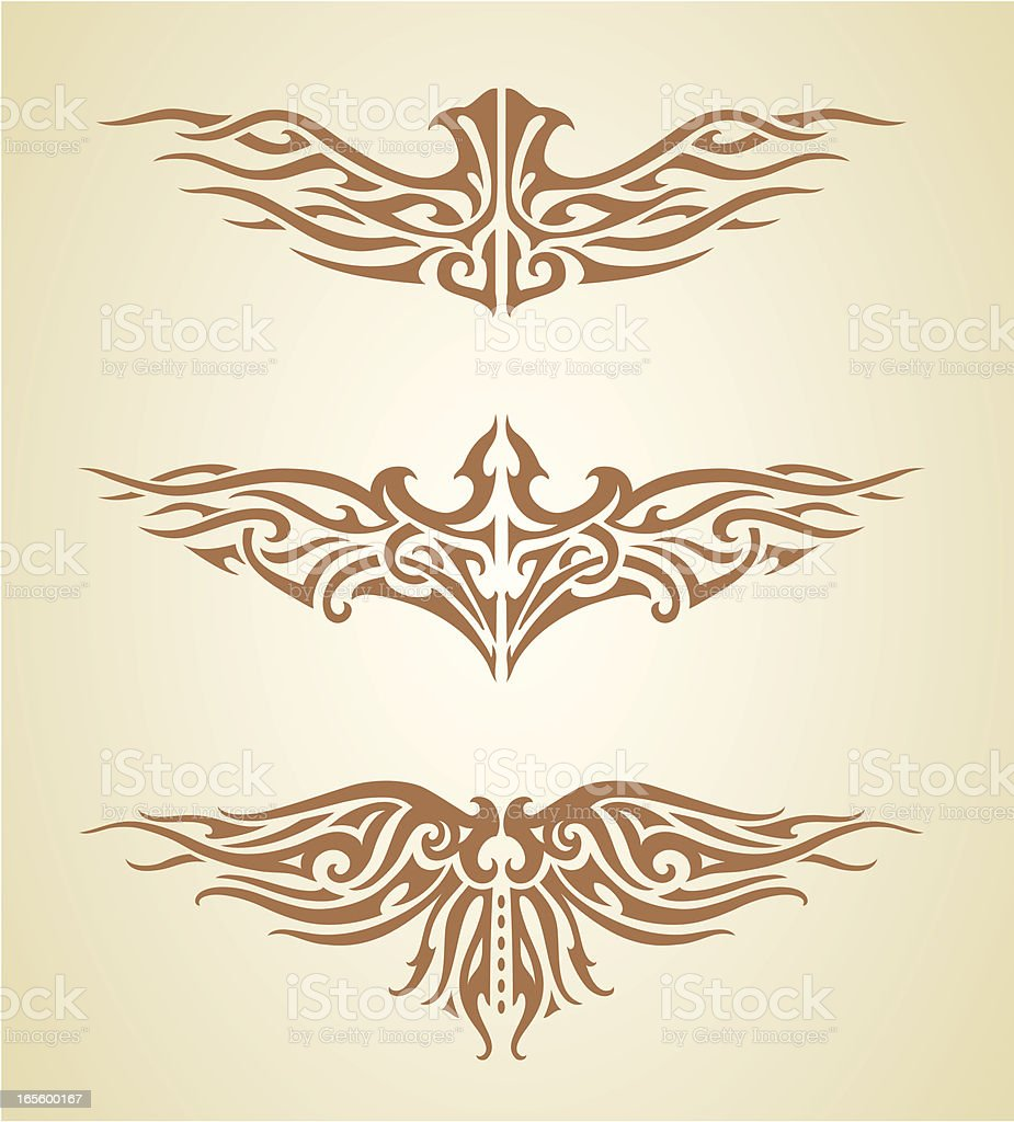 Wing Tattoo royalty-free stock vector art