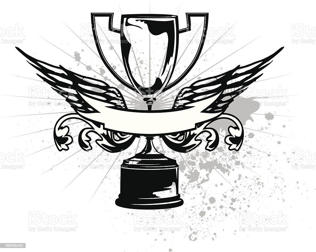 winged cup royalty-free stock vector art