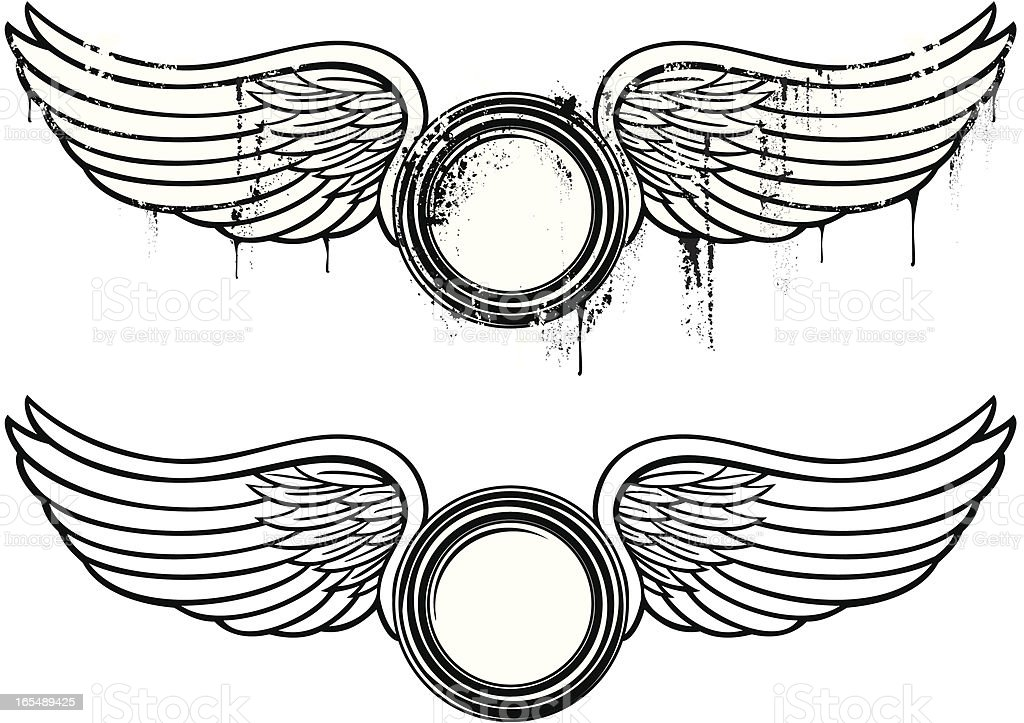 Winged emblem royalty-free stock vector art