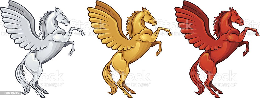 Winged horse royalty-free stock vector art