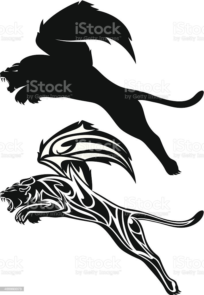 winged lion royalty-free stock vector art
