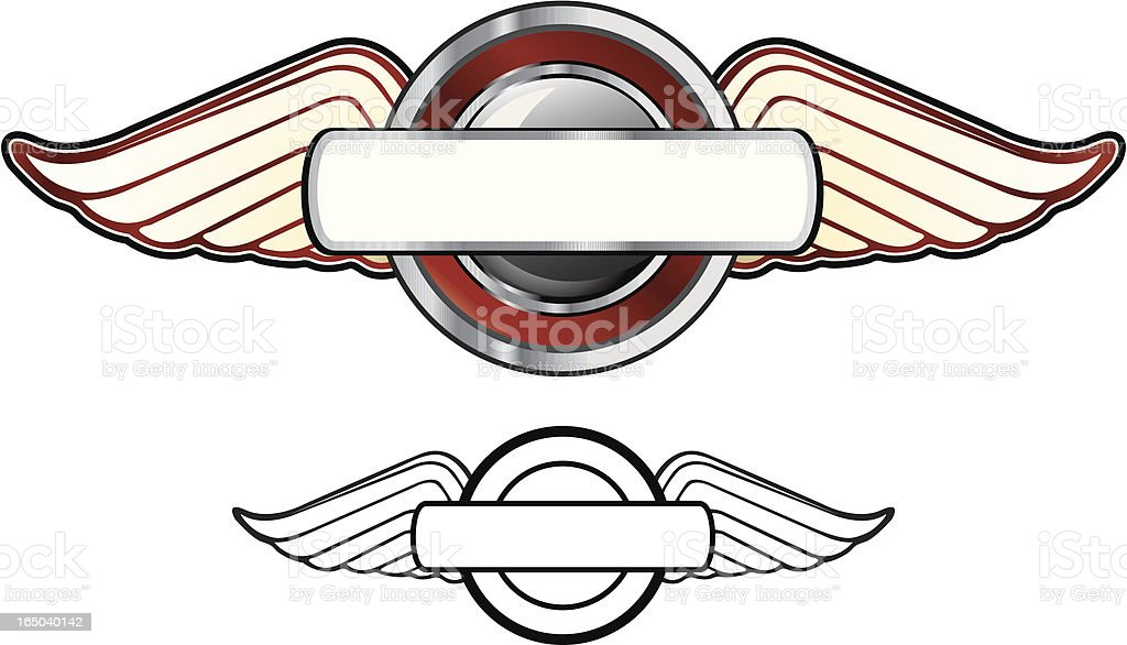 Winged Plaque royalty-free stock vector art