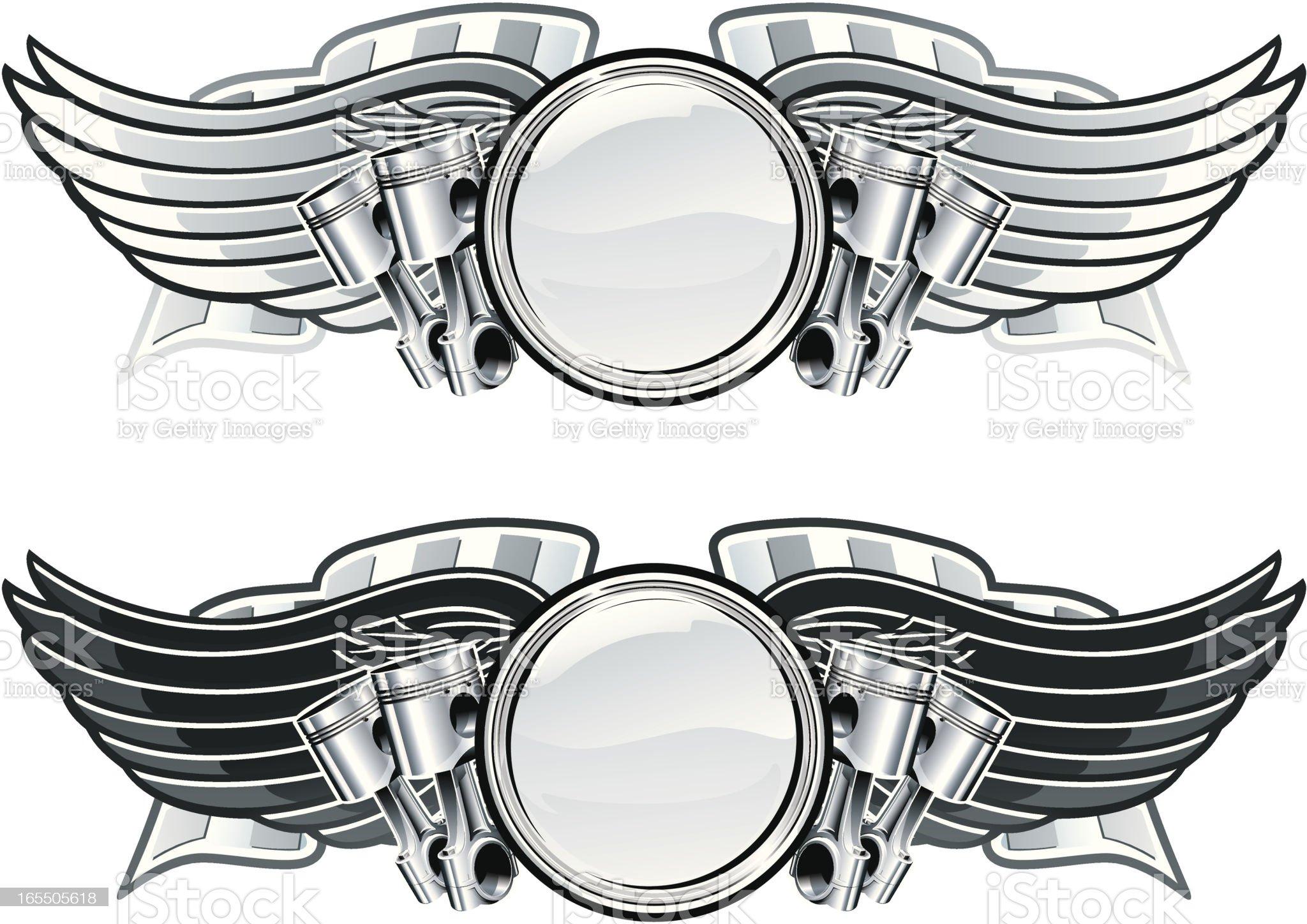 Winged racing emblems royalty-free stock vector art
