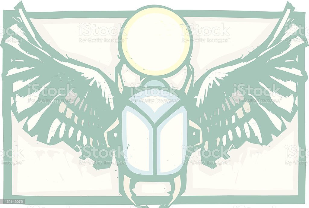 Winged Scarab royalty-free stock vector art