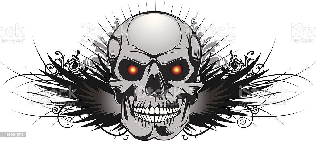 winged skull royalty-free stock vector art