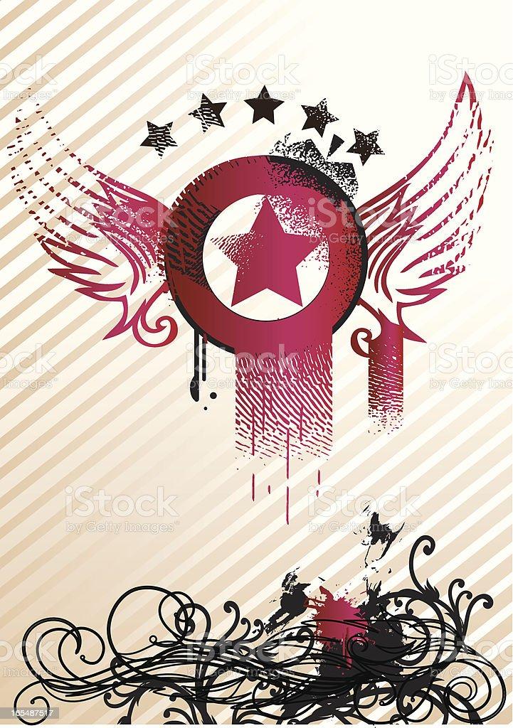 Winged star II royalty-free stock vector art