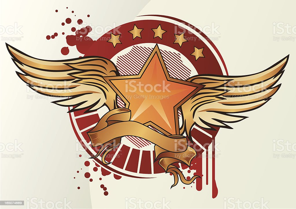 winged star royalty-free stock vector art