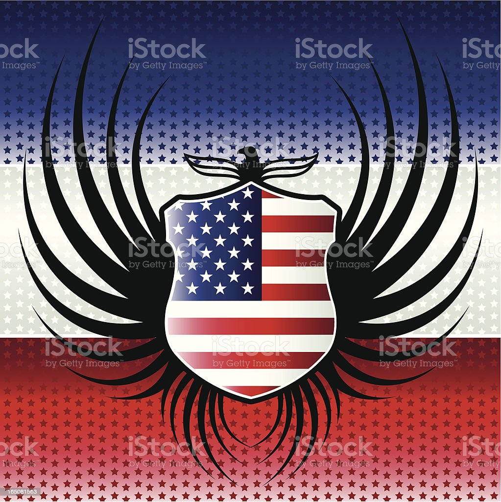 Winged USA Flag royalty-free stock vector art