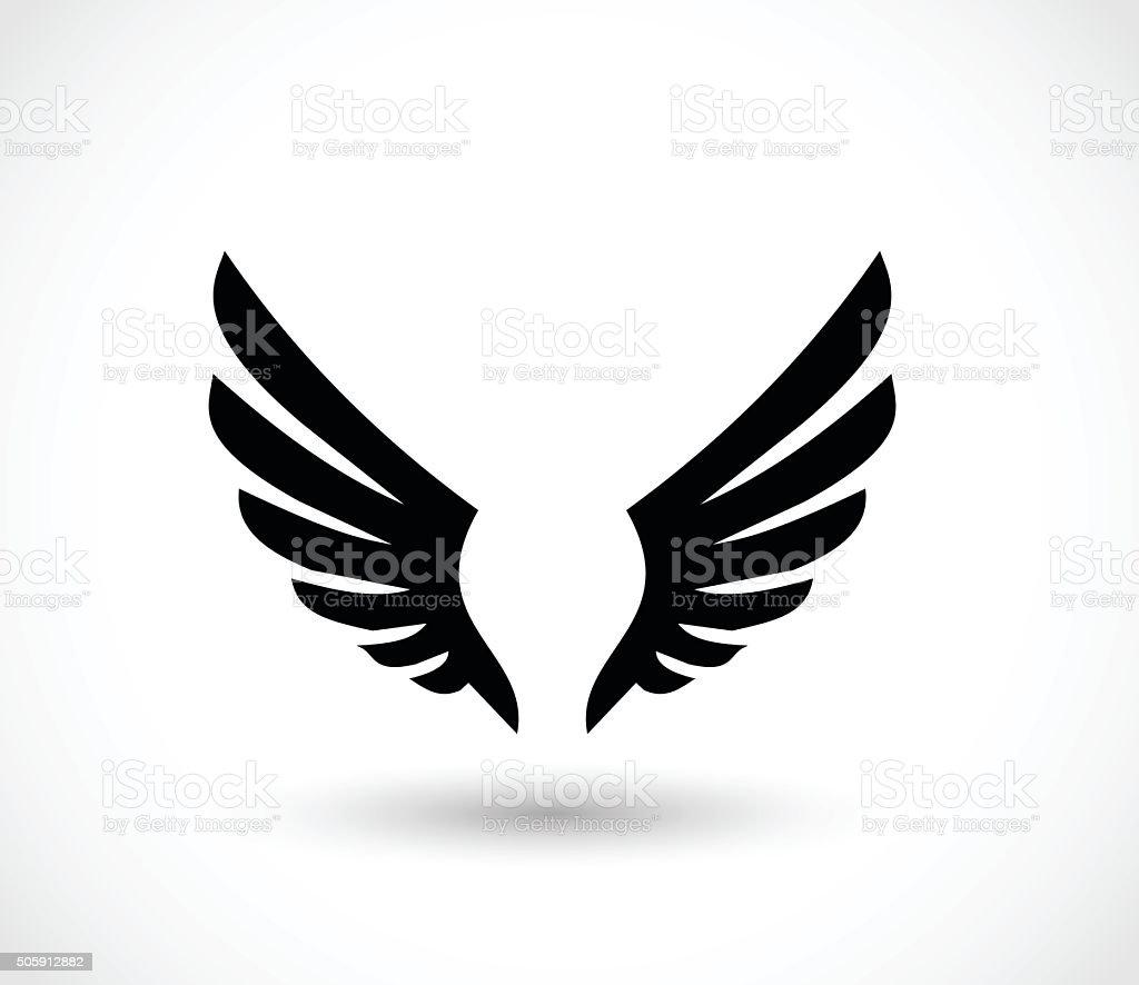 Wings icon vector illustration vector art illustration