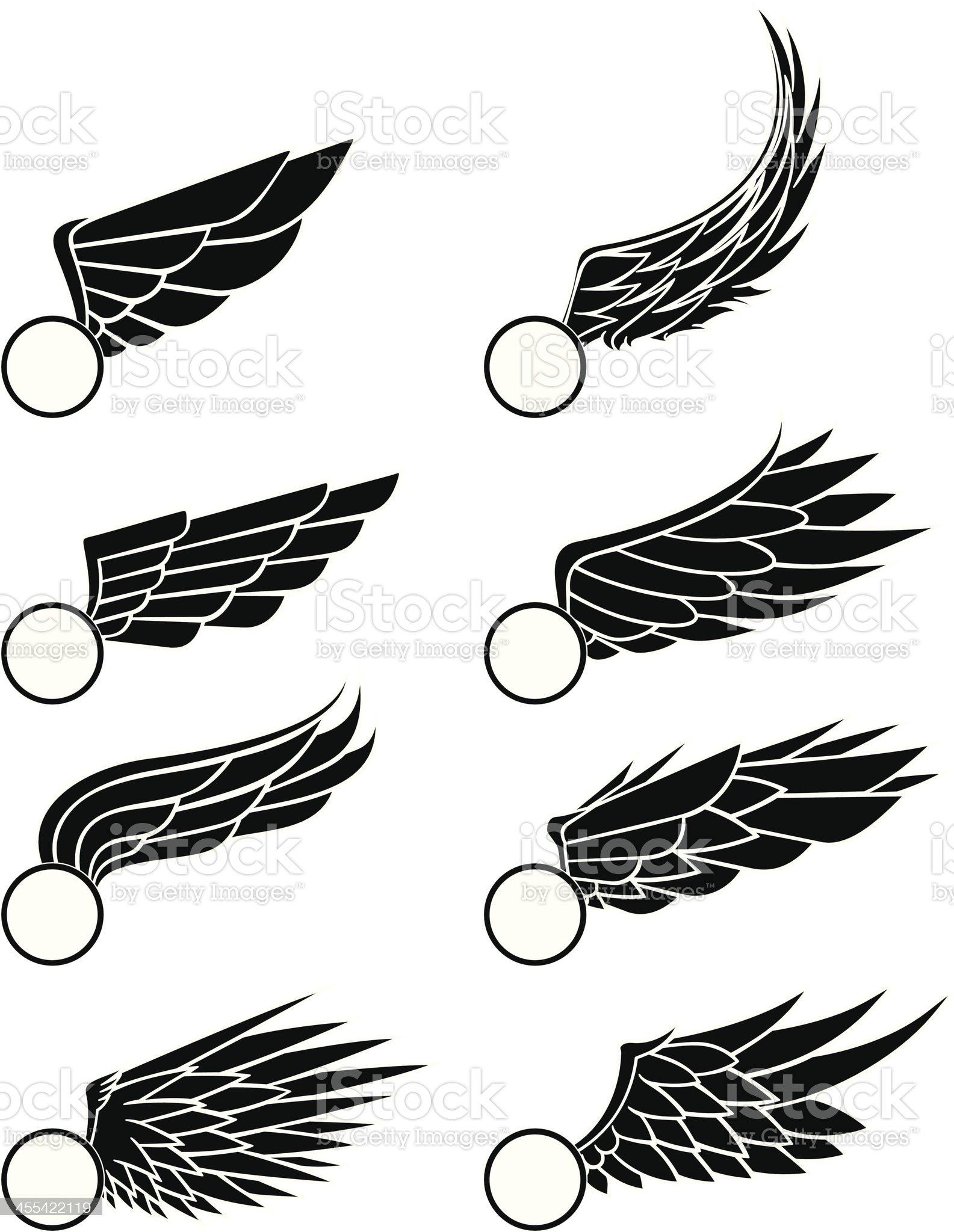 wings illustration. royalty-free stock vector art
