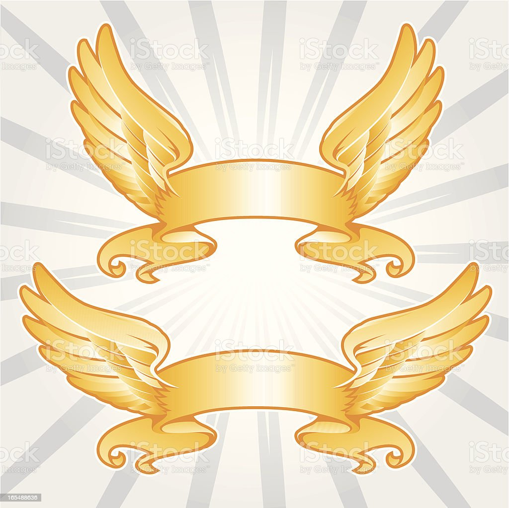 wings of glory royalty-free stock vector art