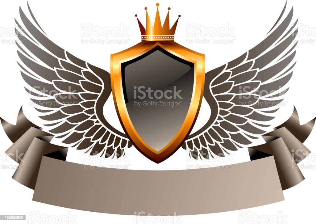 wings of shield royalty-free stock vector art