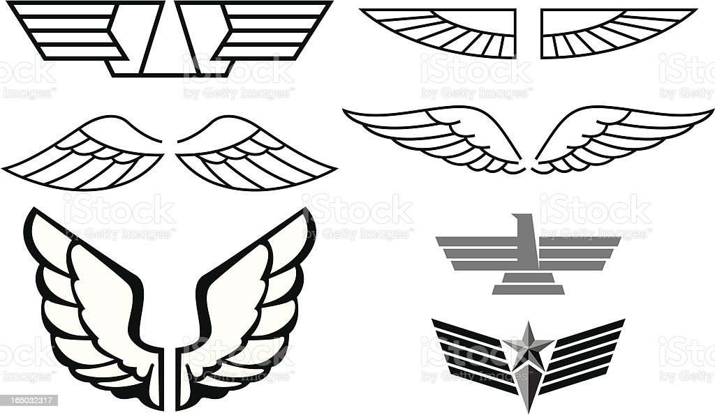Wings Series vector art illustration