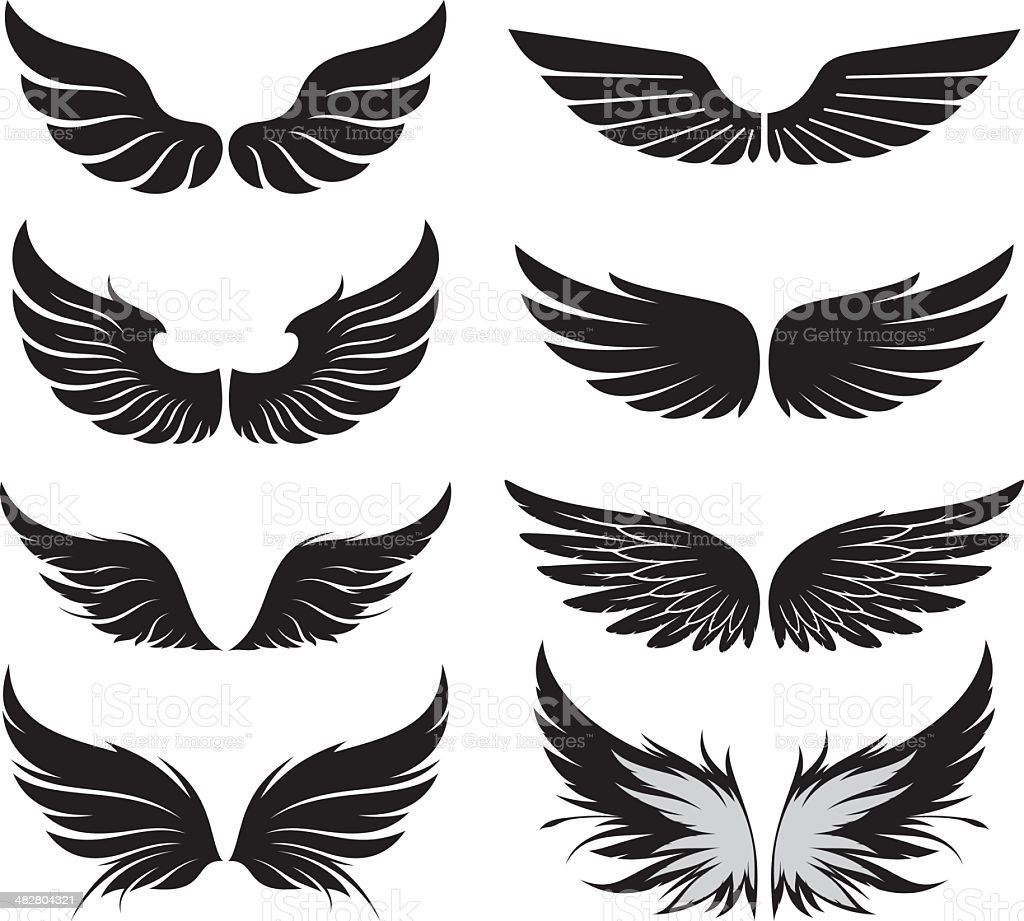 Wings set royalty-free stock vector art