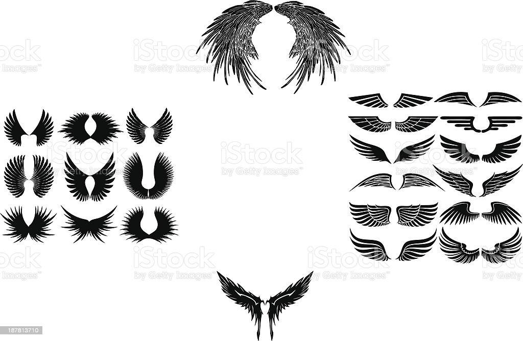 wings stock vector art illustration