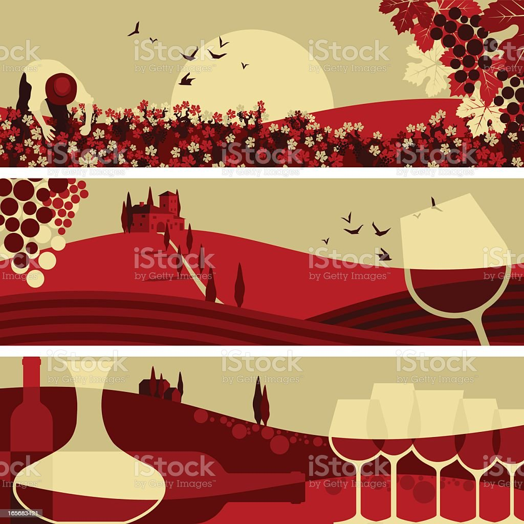 Winne banners vector art illustration
