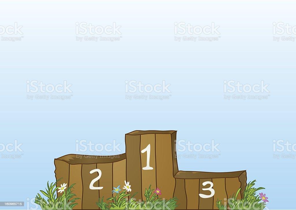 Winner sports wooden podium royalty-free stock photo