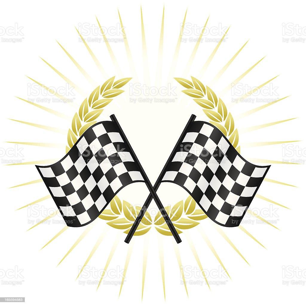 Winners circle royalty-free stock vector art