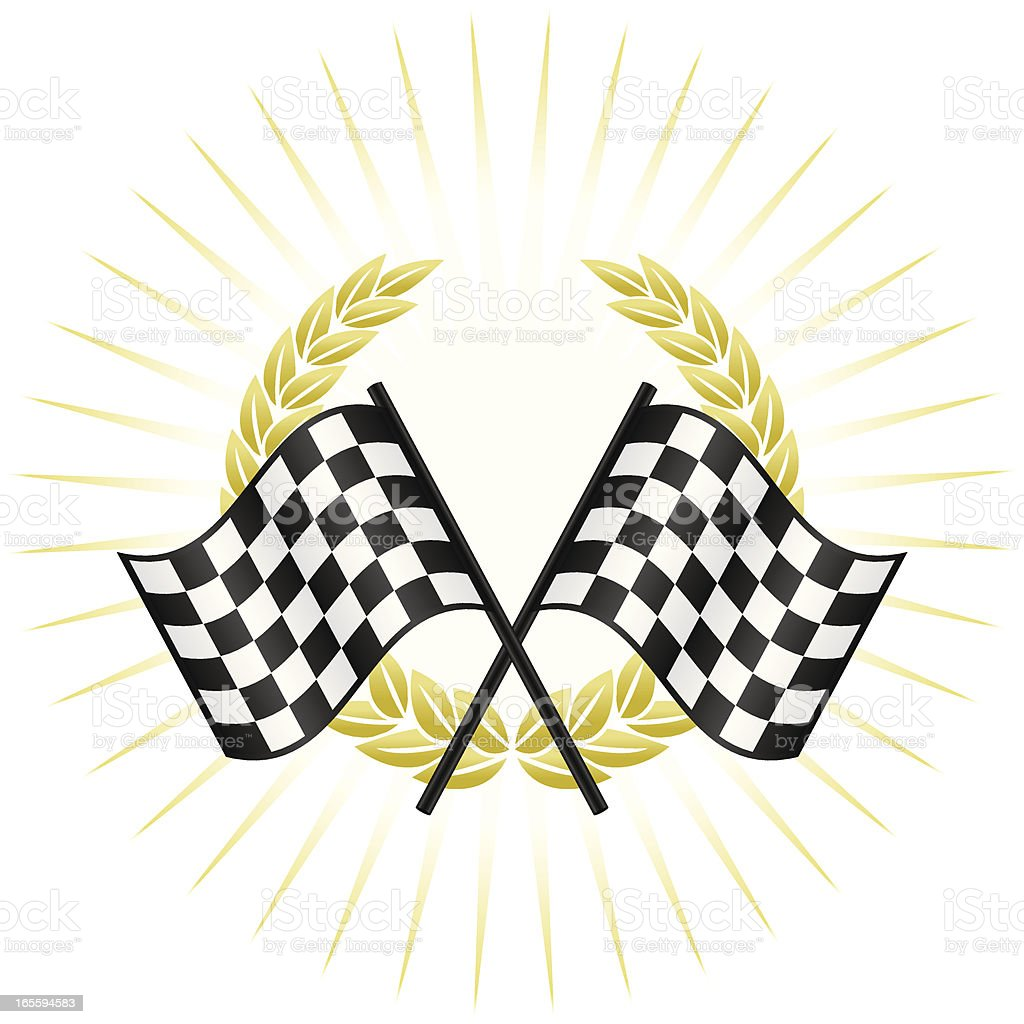 Winners circle vector art illustration