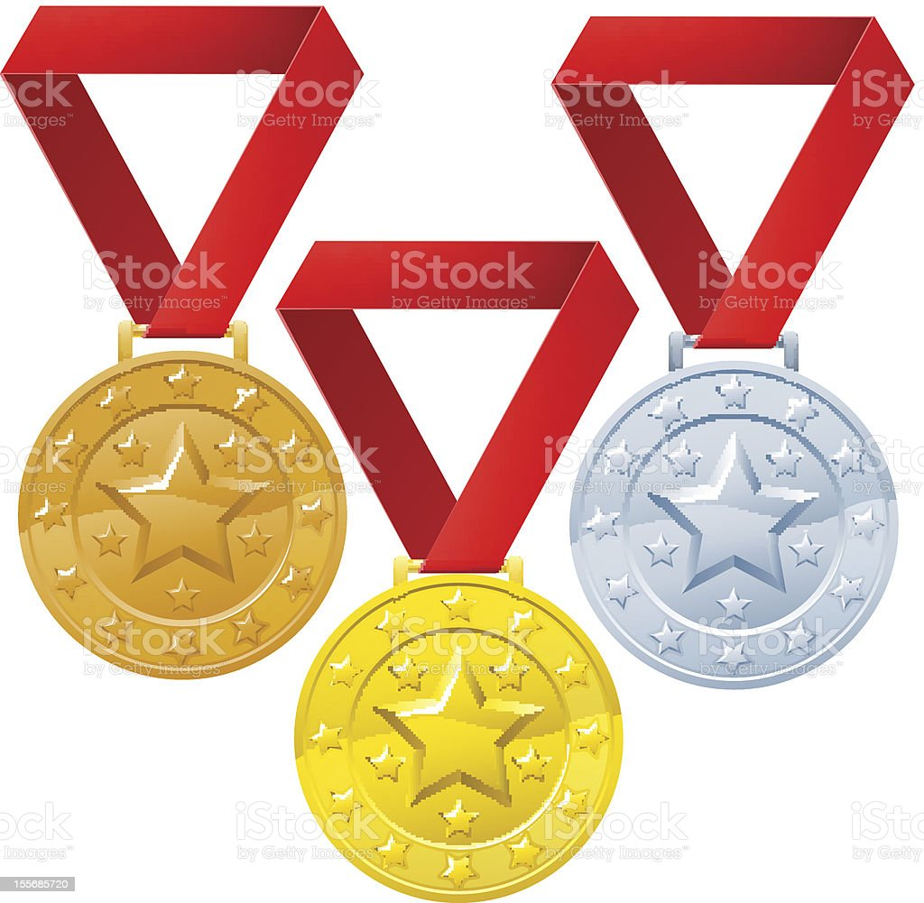 Winners medals royalty-free stock vector art