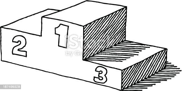 Podium dessin stock vecteur libres de droits 187499328 - Dessin podium ...