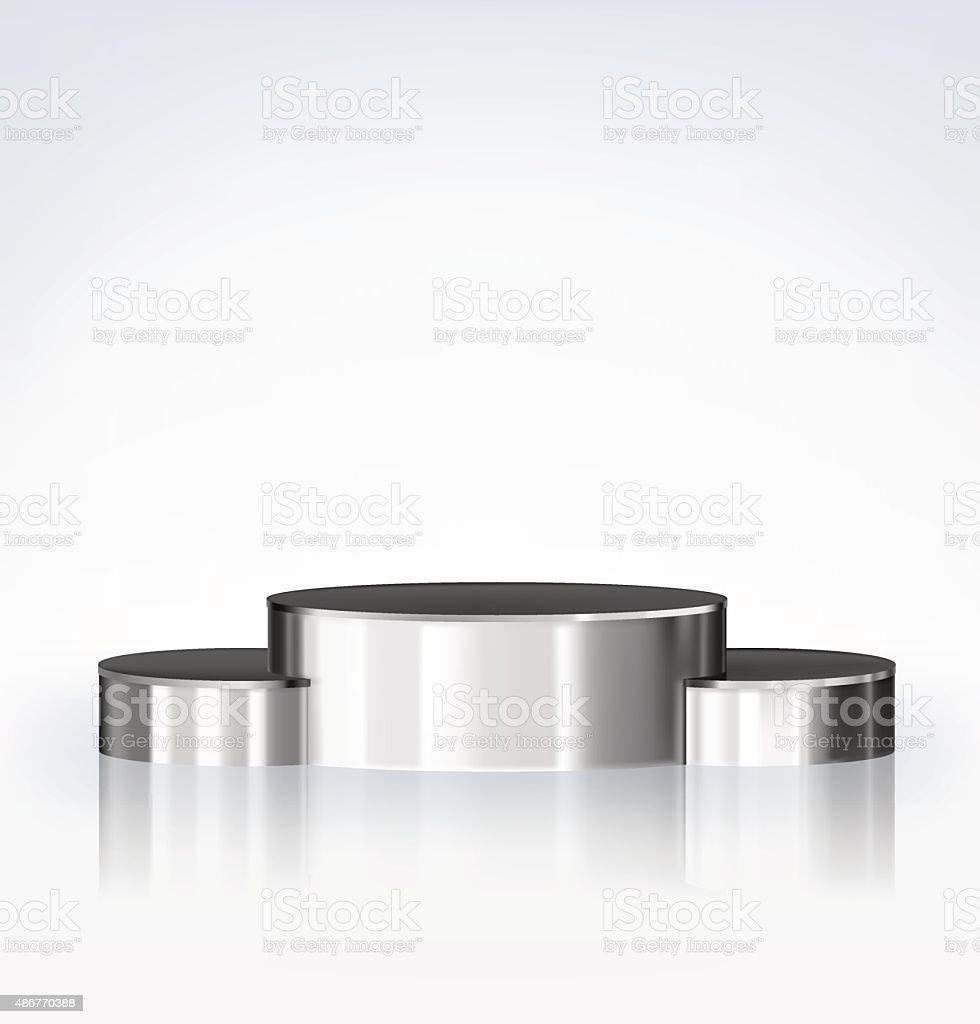Winners podium isolated on grey background. Vector illustration vector art illustration