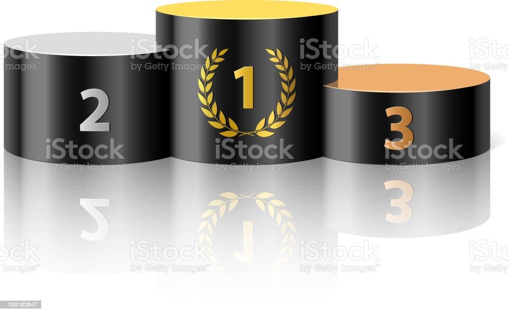 Winners podium vector art illustration