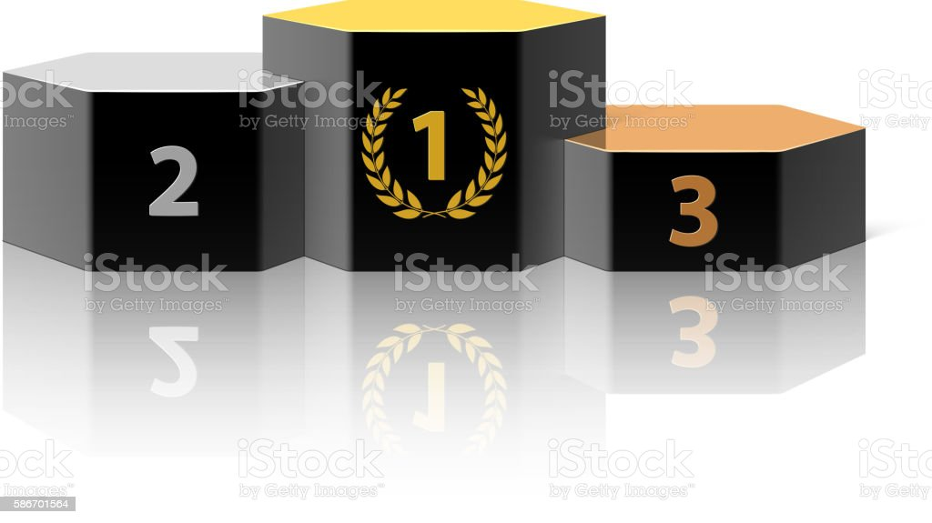 Winners Podium vector art illustration