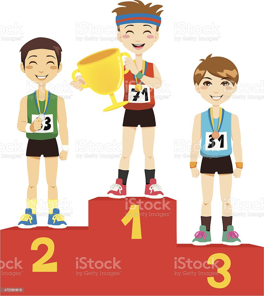 Olympic Winners royalty-free stock vector art