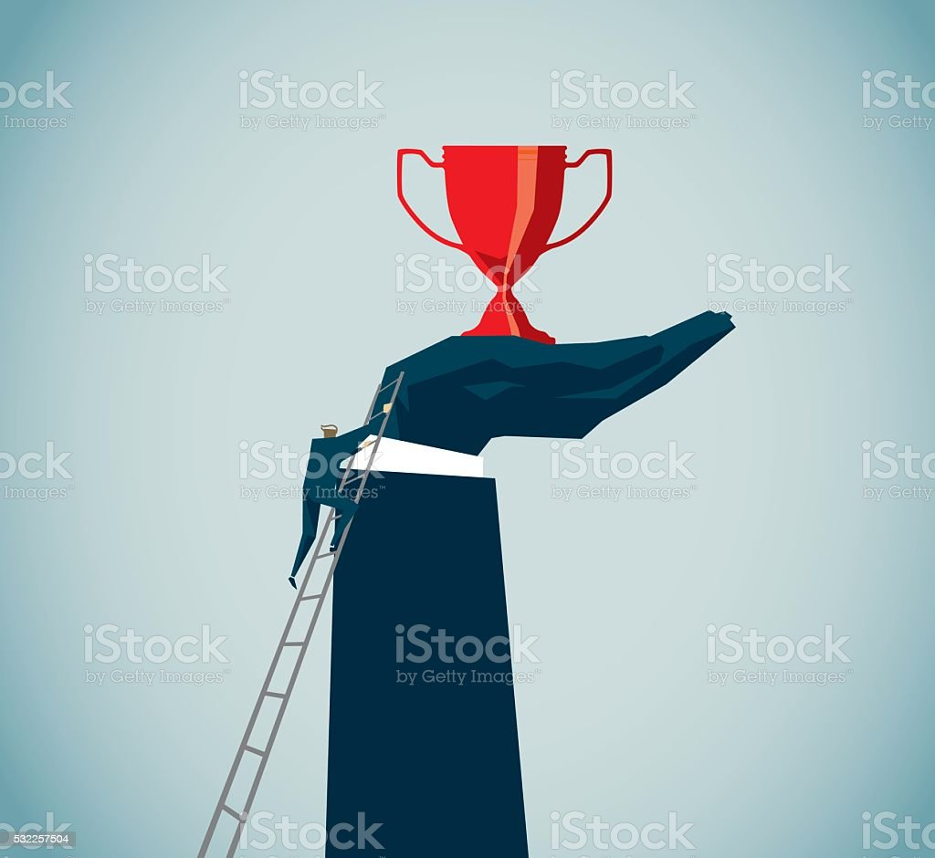 Winners vector art illustration