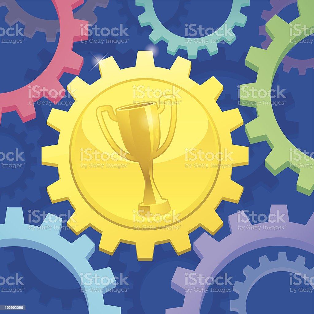 winning cog royalty-free stock vector art