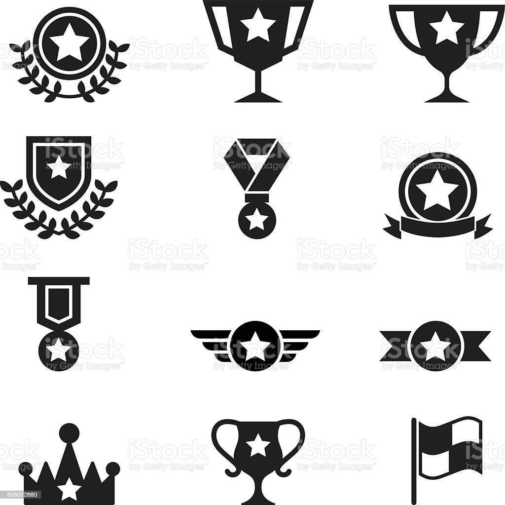 winning icon vector art illustration