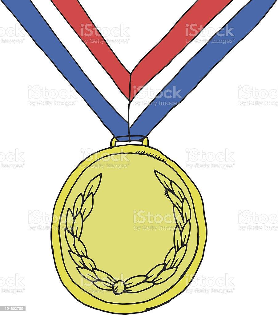 Winning medal royalty-free stock vector art
