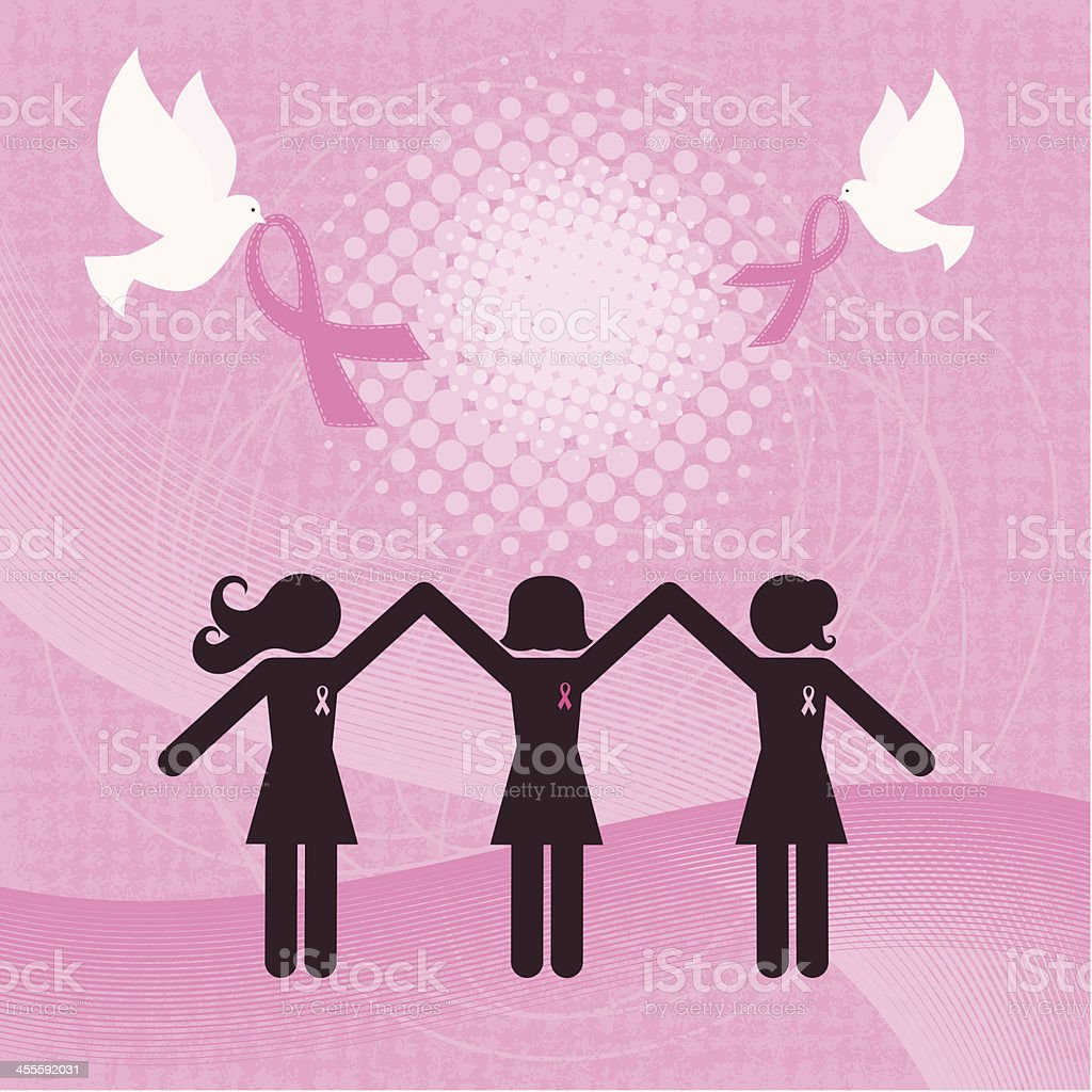 Winning the Battle Against Breast Cancer royalty-free stock vector art