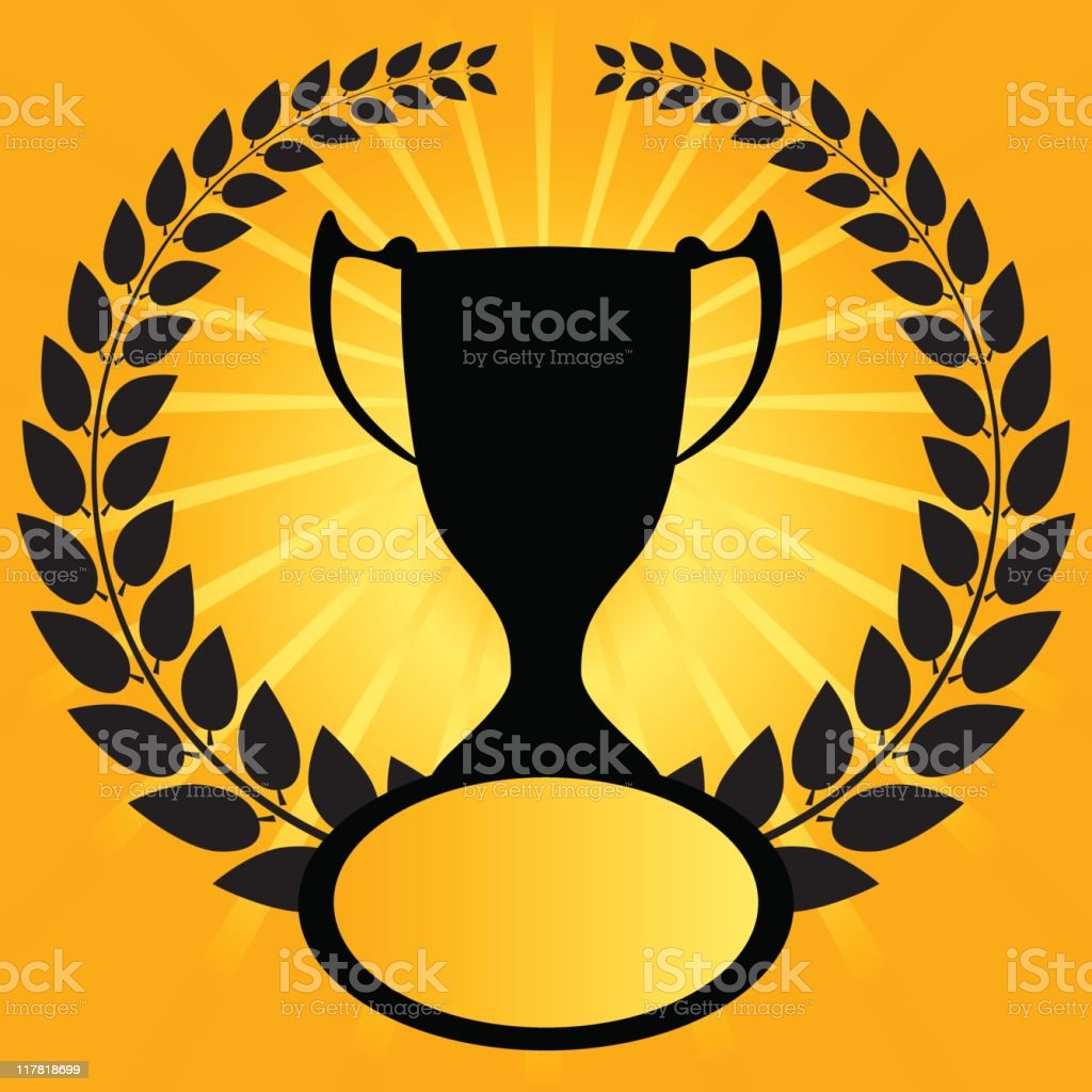Winning trophy royalty-free stock vector art