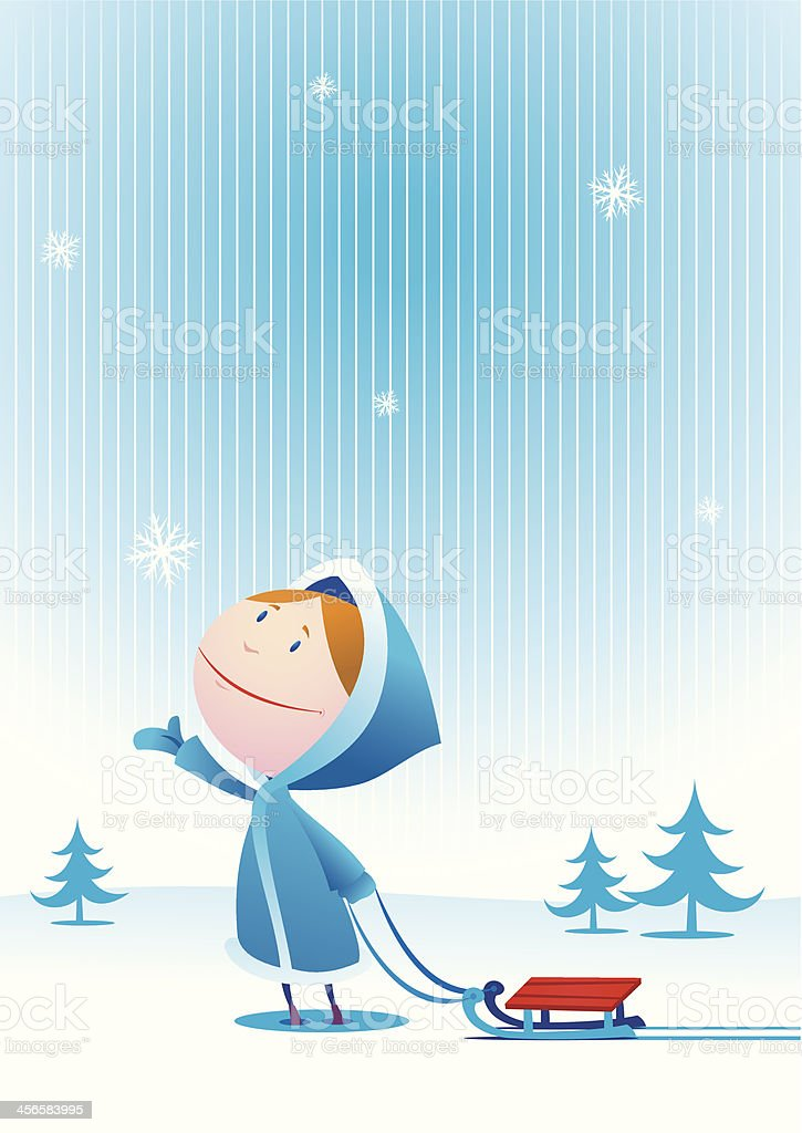 Winter again royalty-free stock vector art
