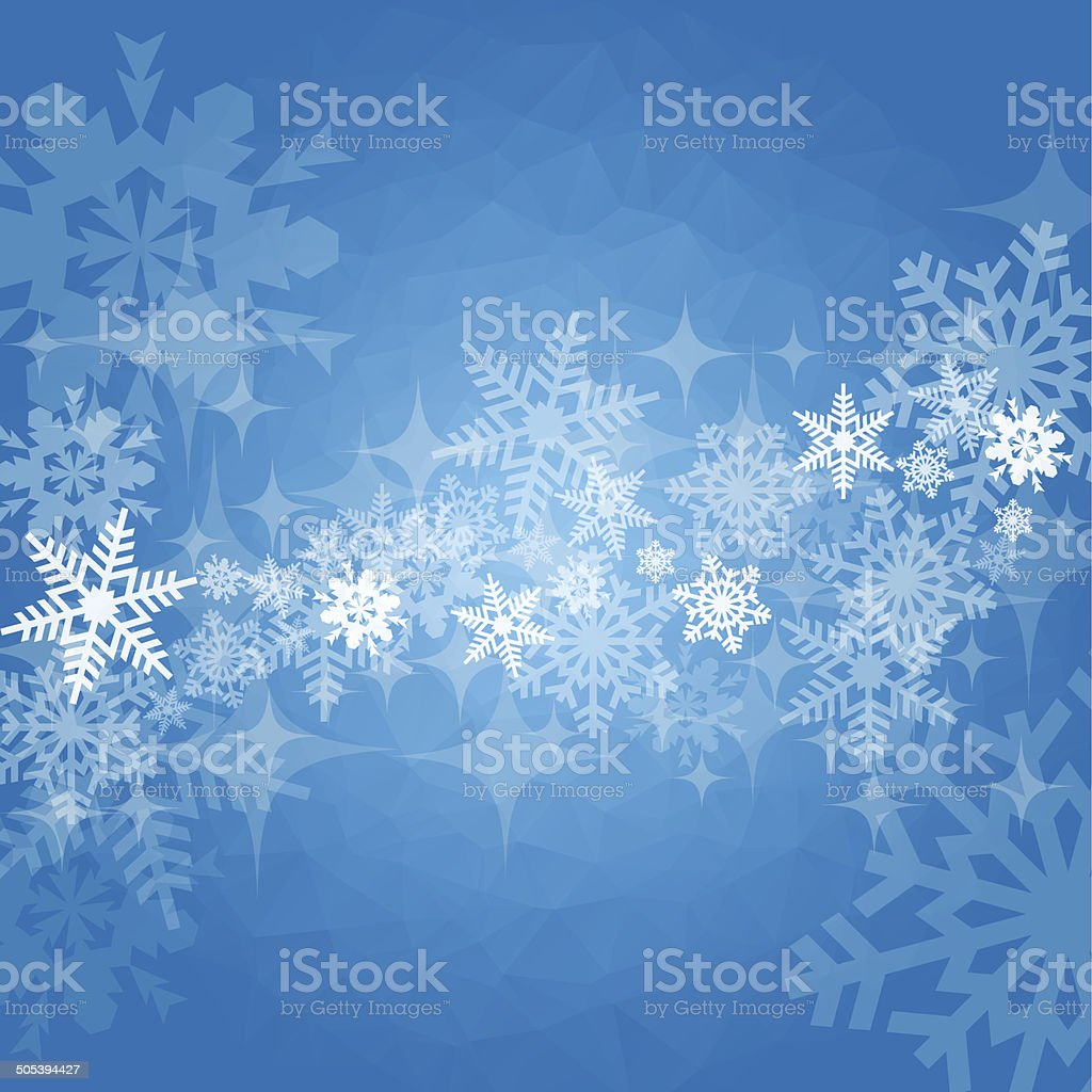 Winter and christmas blue background royalty-free stock vector art