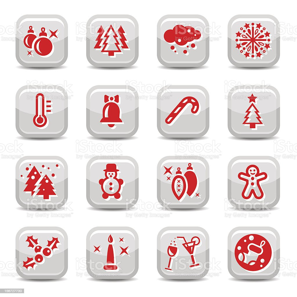 winter and cristmas icon set royalty-free stock vector art