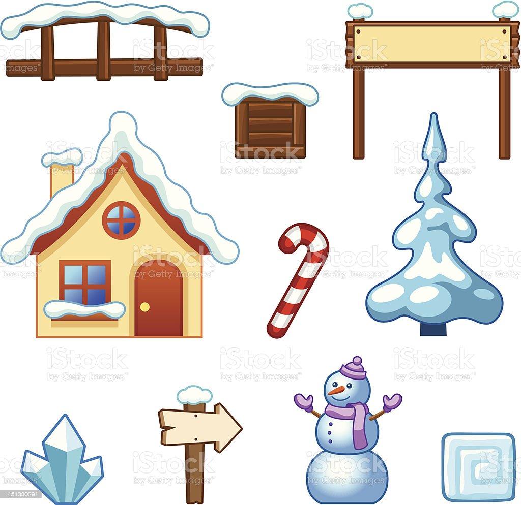 Winter assets royalty-free stock vector art