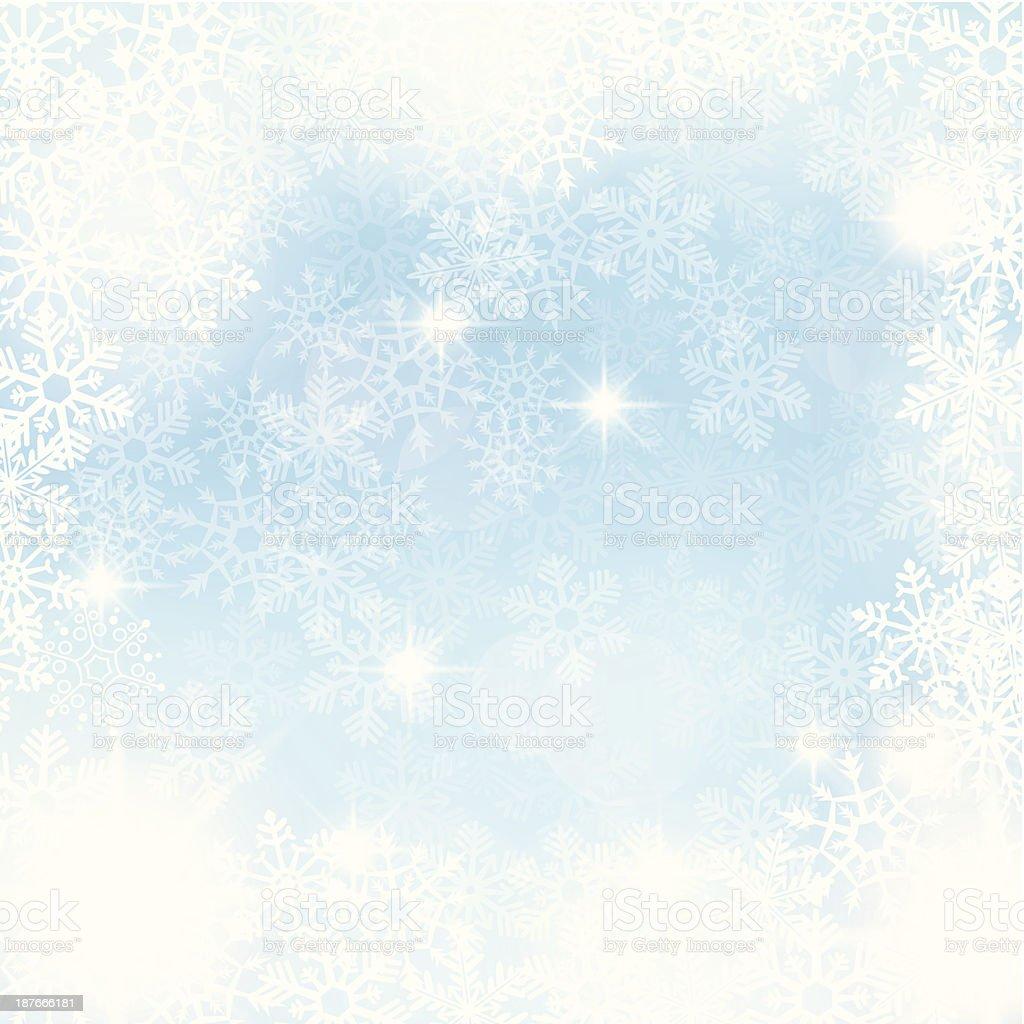 Winter Background - Frozen Window vector art illustration