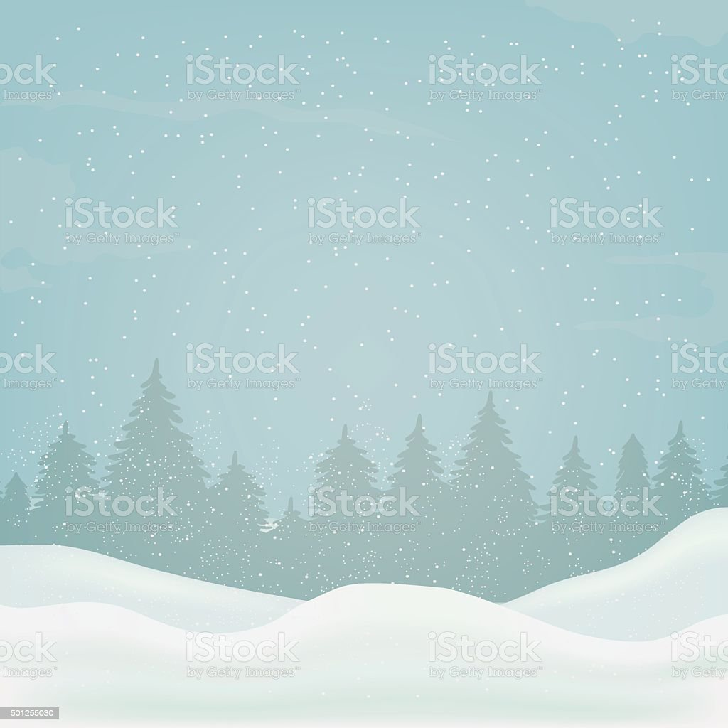 winter background, landscape, christmas, new year royalty-free stock vector art
