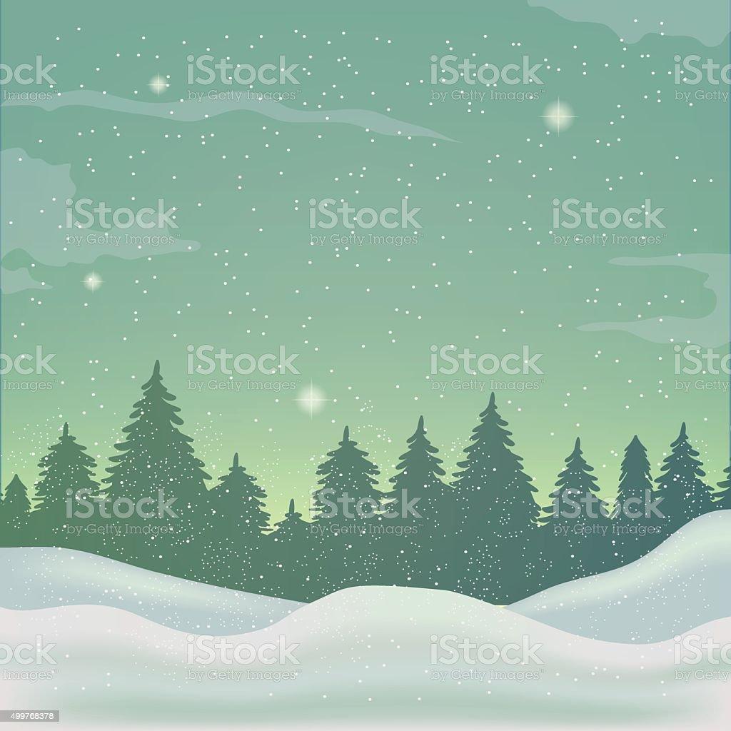 winter background, landscape royalty-free stock vector art