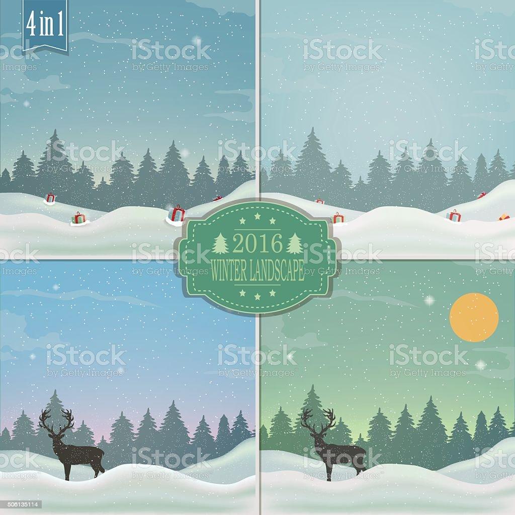 Winter background. Outdoor winter landscape. royalty-free stock vector art