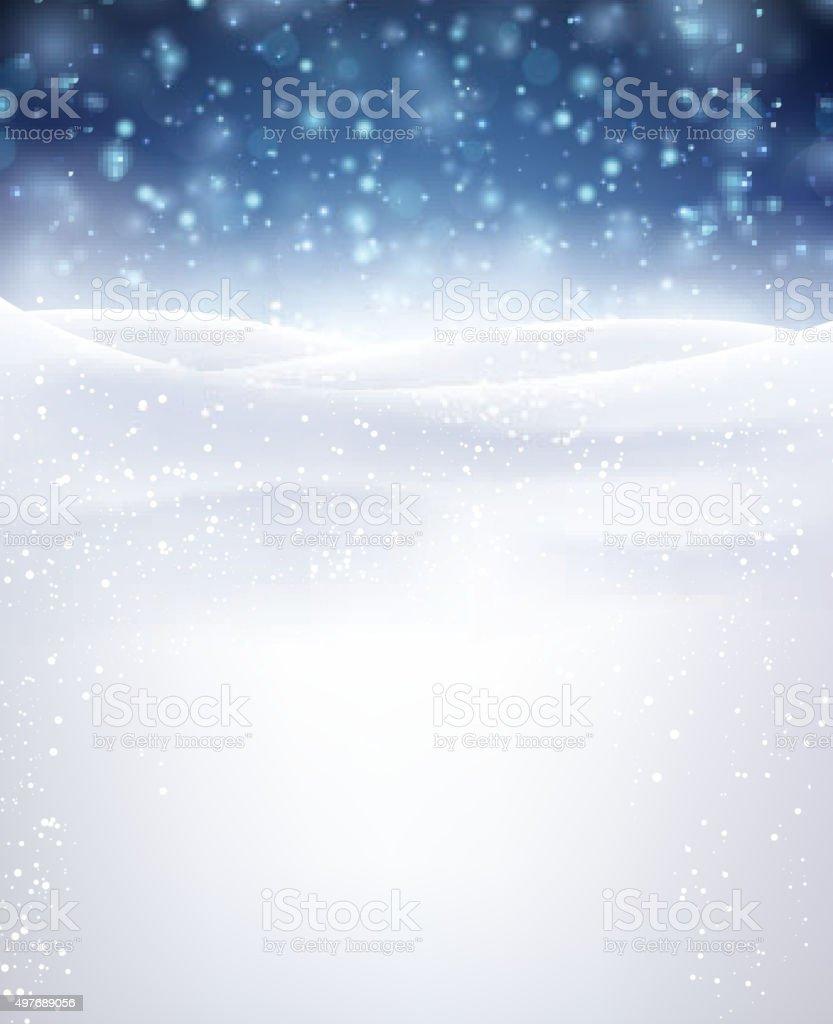 Winter background vector art illustration