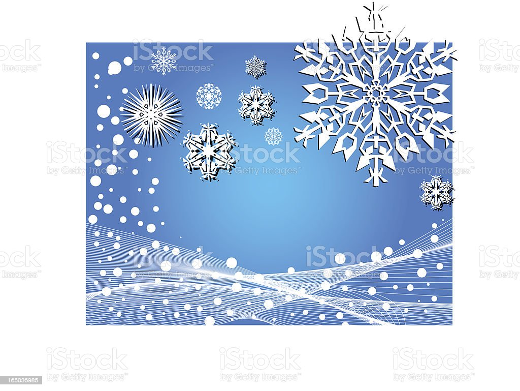 Winter background - vector royalty-free stock vector art