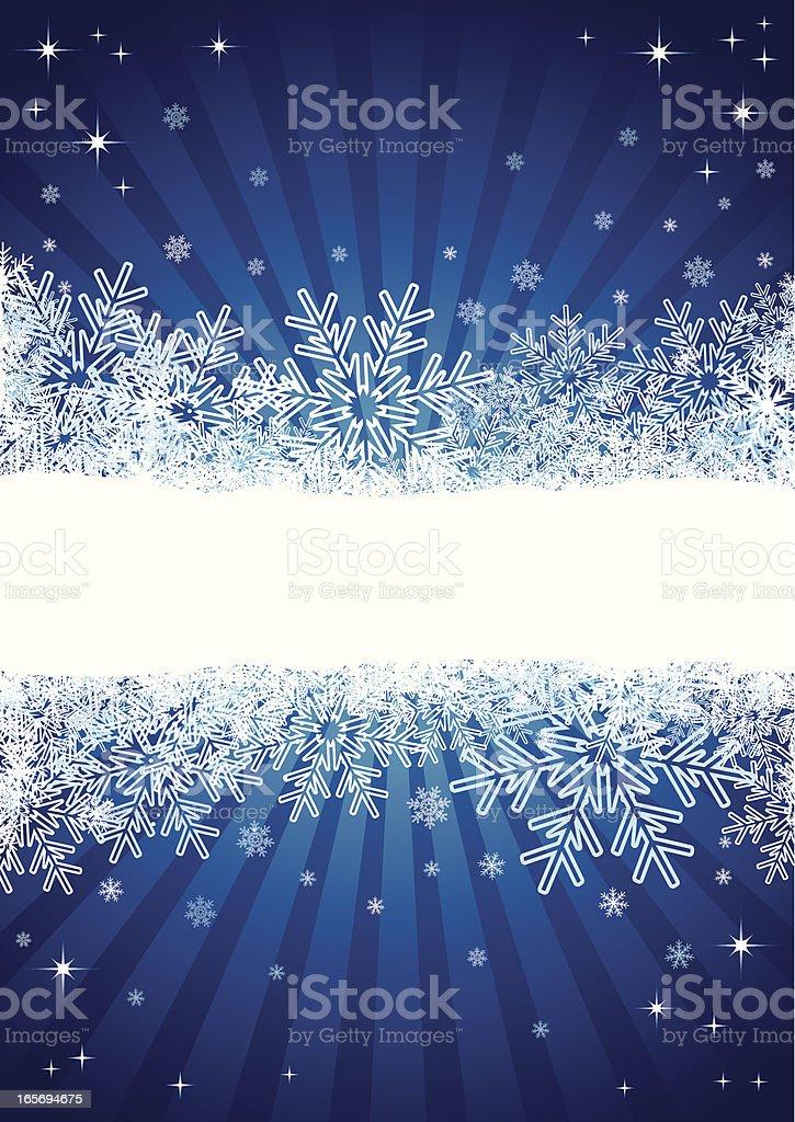 Winter background, vector royalty-free stock vector art
