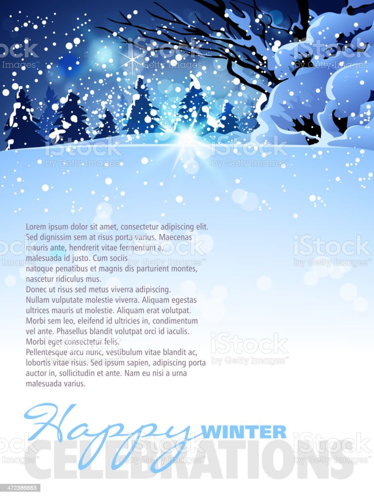 Winter Background with Copy space royalty-free stock vector art