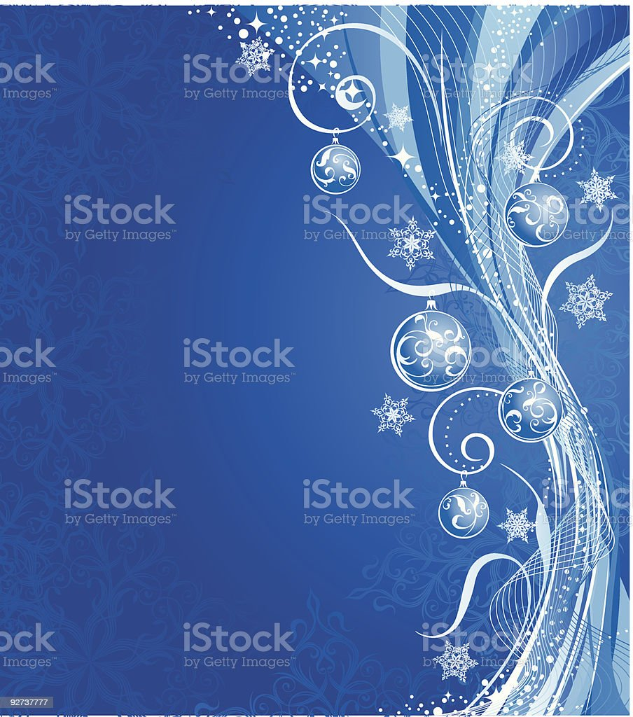 Winter background with decoration royalty-free stock vector art